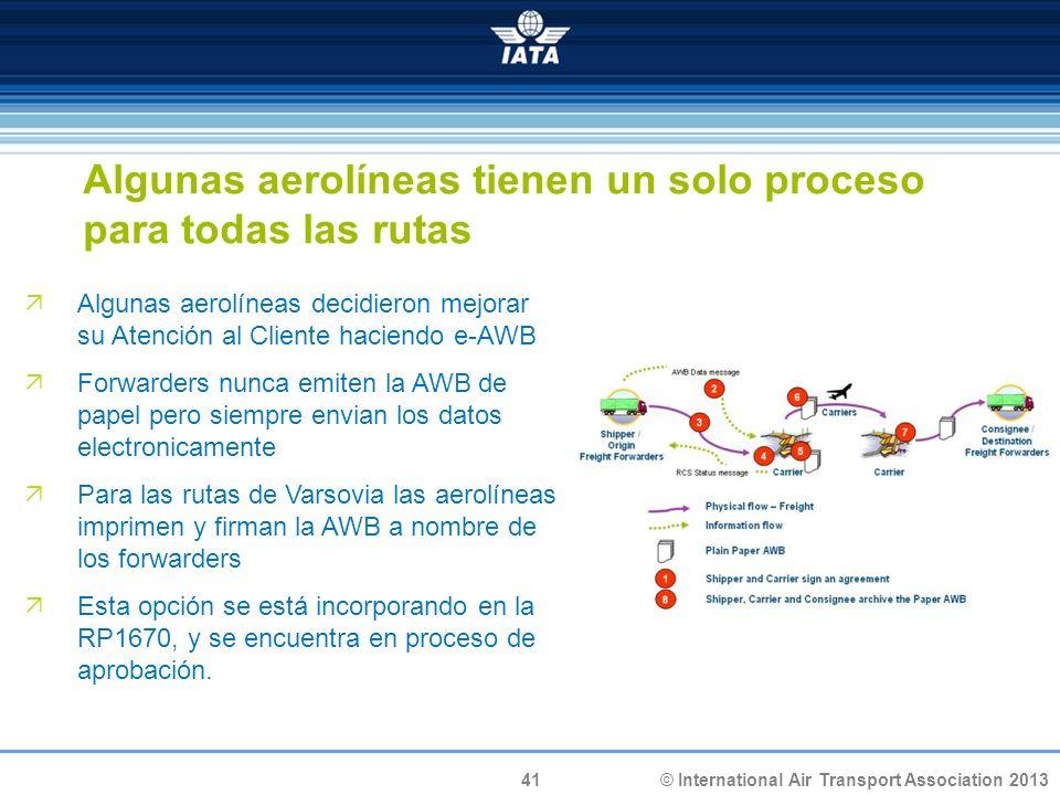 Algunas aerolíneas tienen un solo proceso para todas las rutas