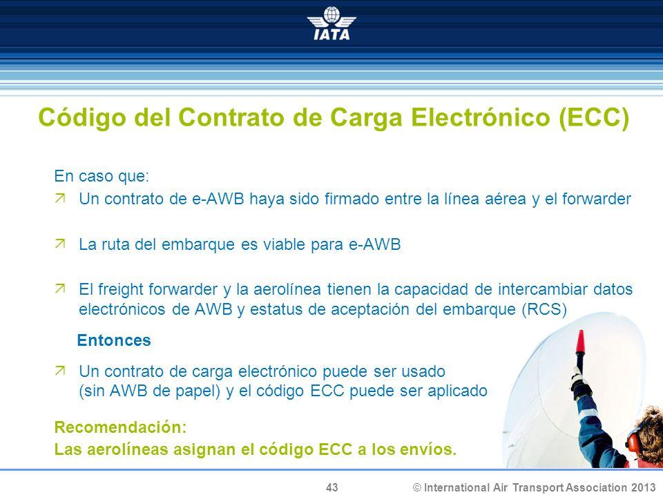 Código del Contrato de Carga Electrónico (ECC)