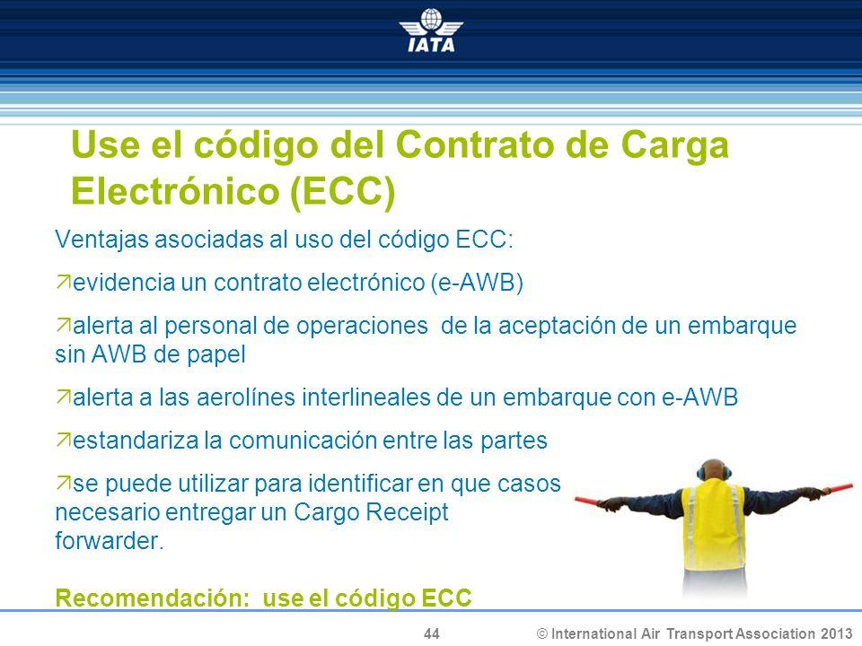 Use el código del Contrato de Carga Electrónico (ECC)