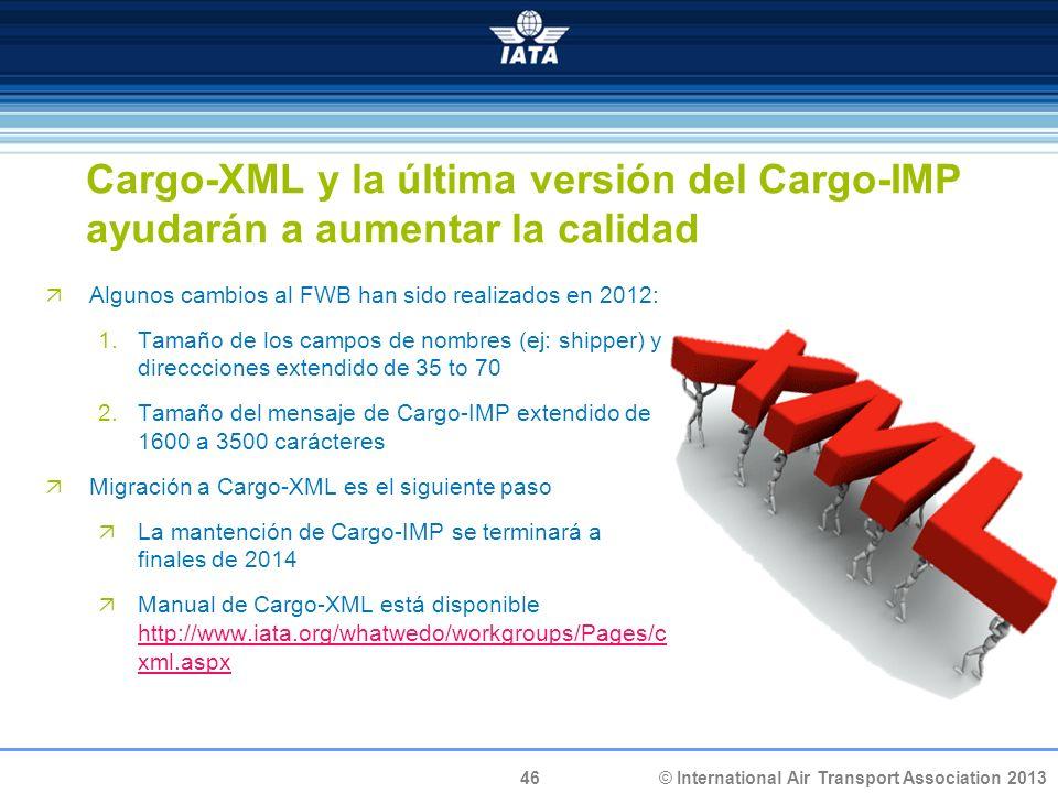 Cargo-XML y la última versión del Cargo-IMP ayudarán a aumentar la calidad