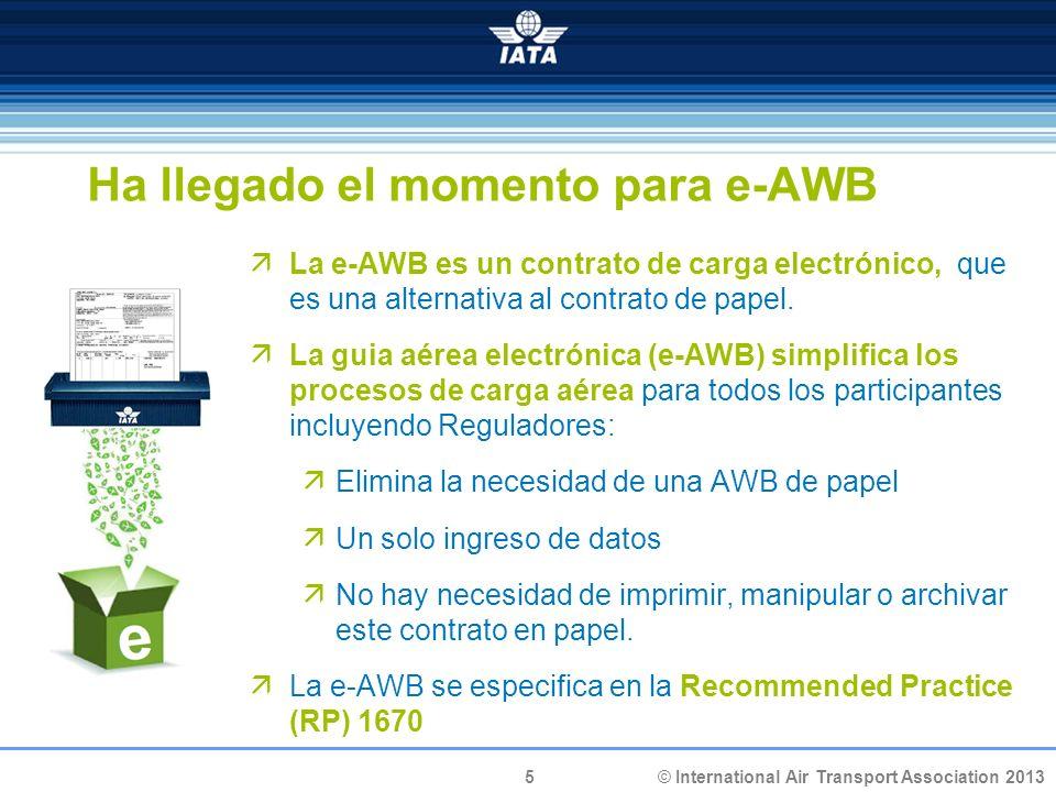 Ha llegado el momento para e-AWB