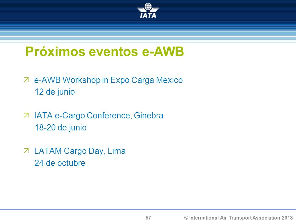Próximos eventos e-AWB