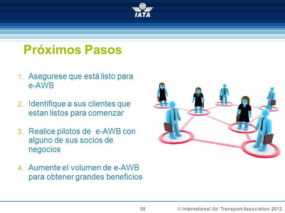 Próximos Pasos Asegurese que está listo para e-AWB