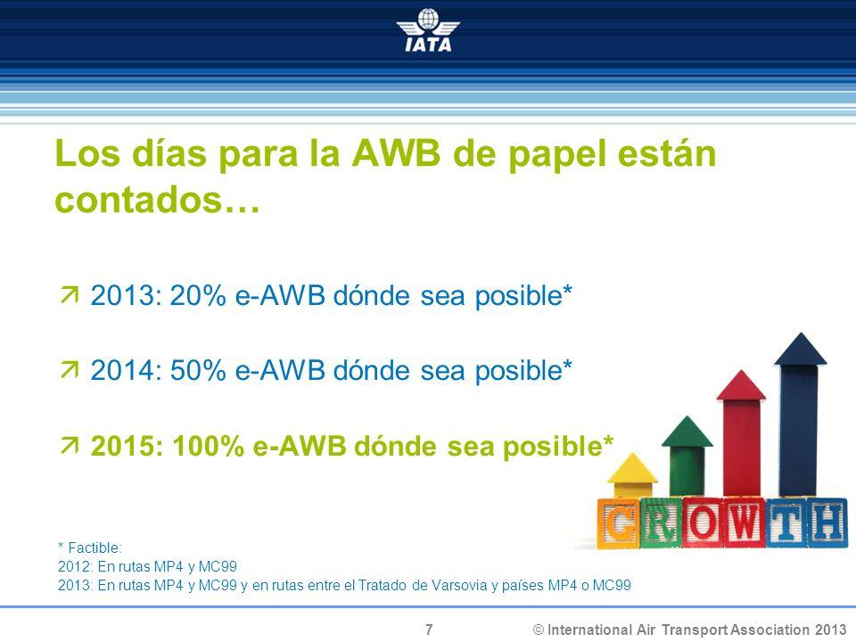 Los días para la AWB de papel están contados…