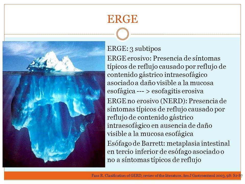 ERGE ERGE: 3 subtipos.