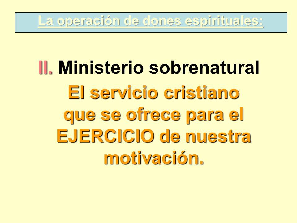 La operación de dones espirituales: II. Ministerio sobrenatural