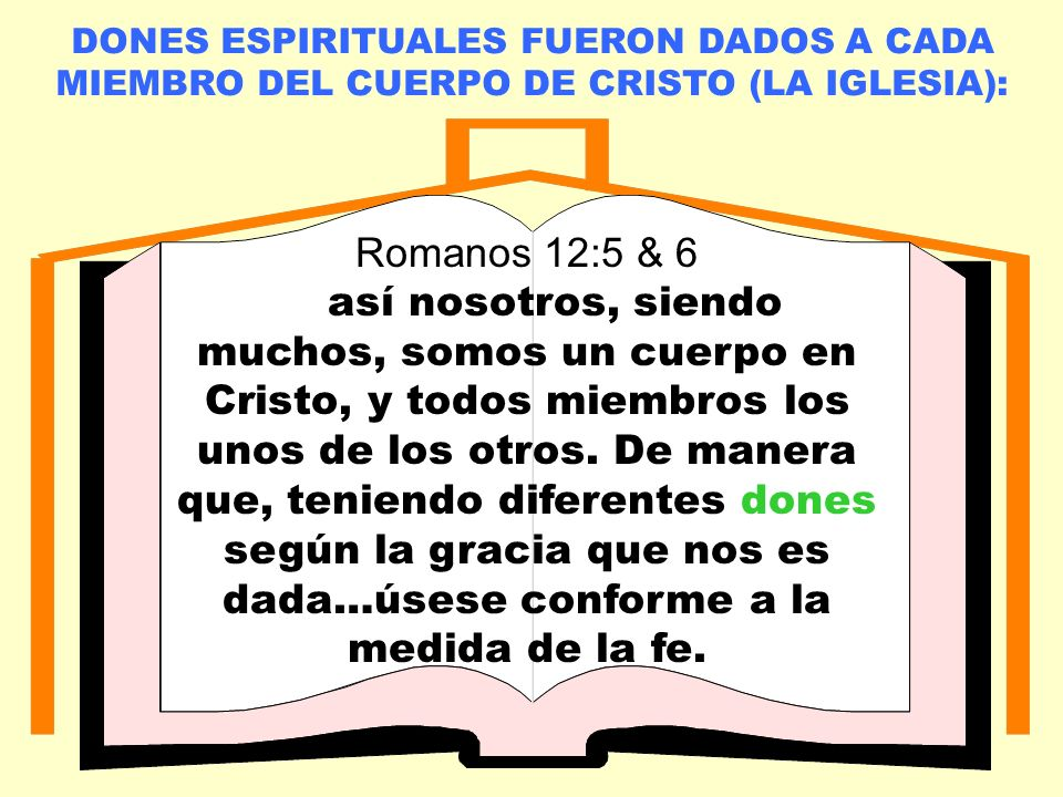 LA IGLESIA LOCAL Romanos 12:5 & 6