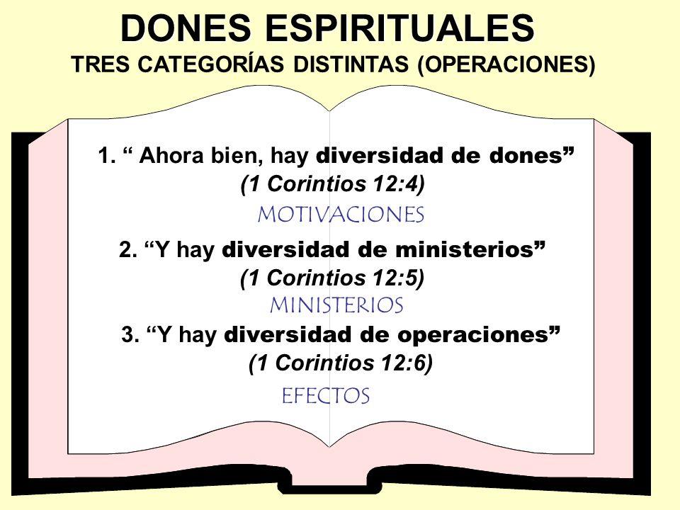 TRES CATEGORÍAS DISTINTAS (OPERACIONES)