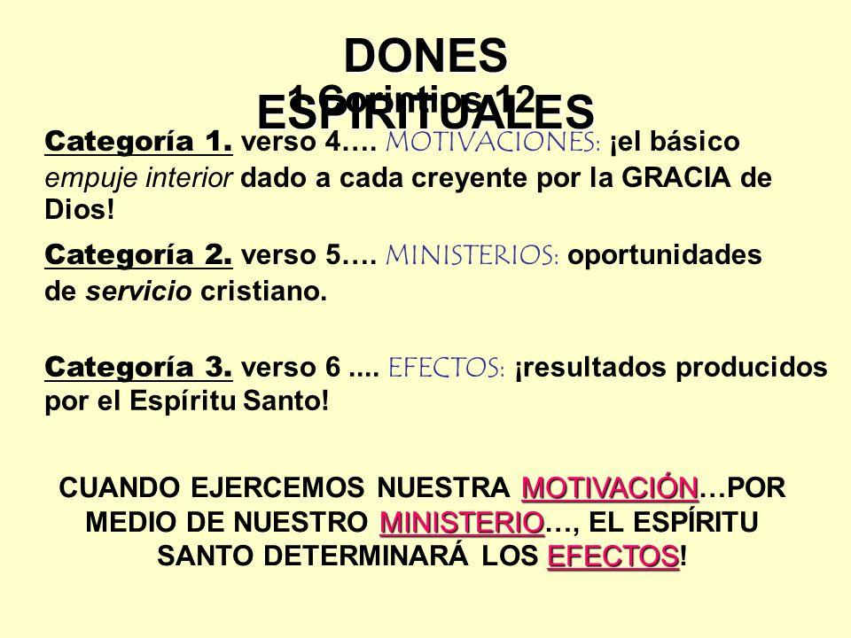 DONES ESPIRITUALES 1 Corintios 12