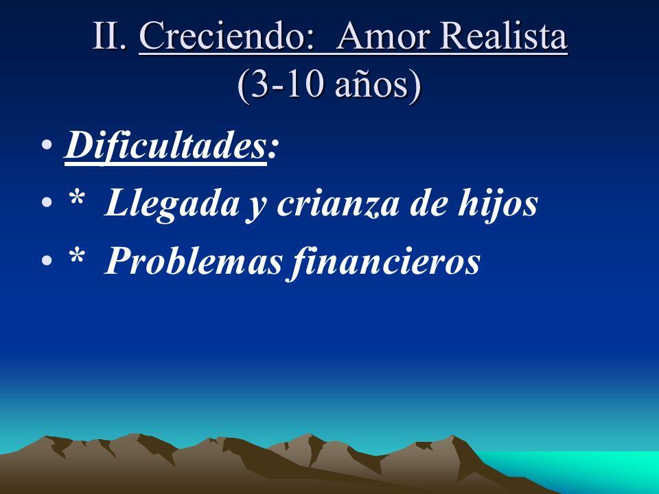 II. Creciendo: Amor Realista (3-10 años)