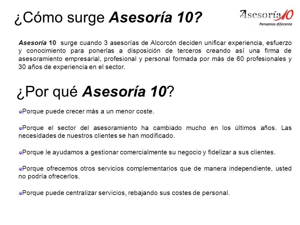¿Cómo surge Asesoría 10 ¿Por qué Asesoría 10