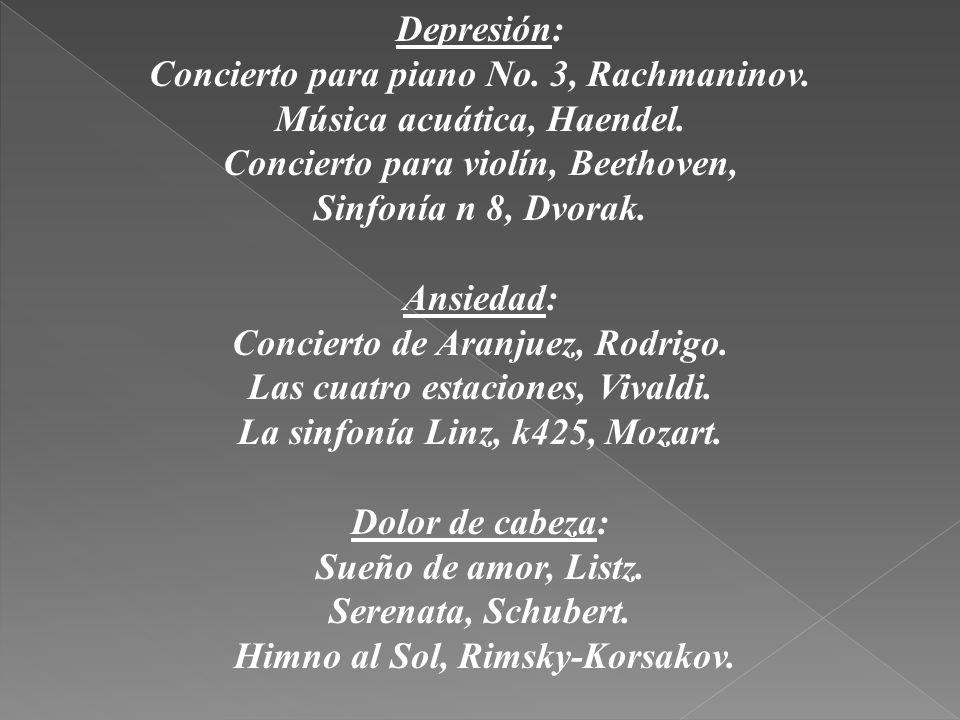Concierto para piano No. 3, Rachmaninov. Música acuática, Haendel.