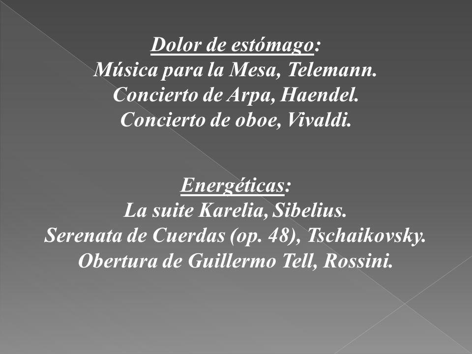 Música para la Mesa, Telemann. Concierto de Arpa, Haendel.