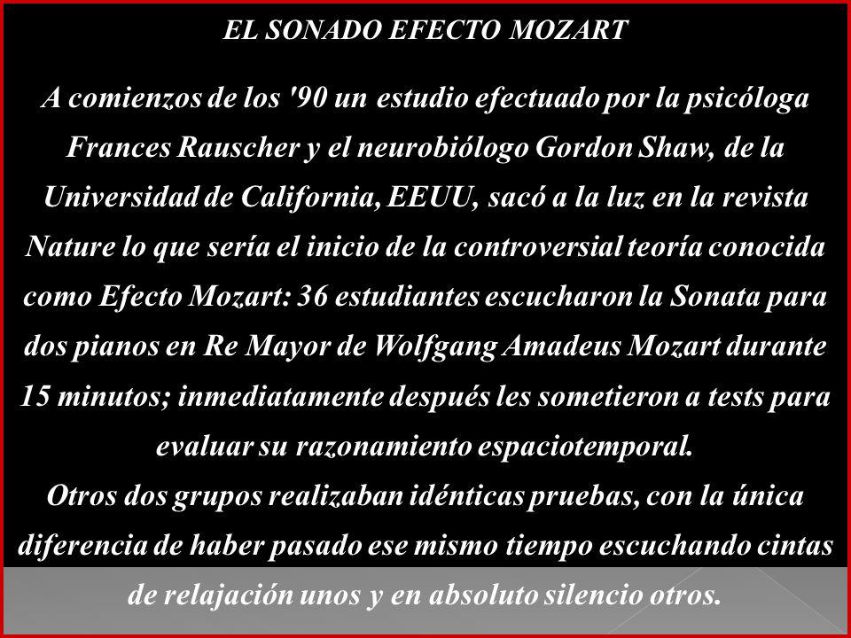EL SONADO EFECTO MOZART
