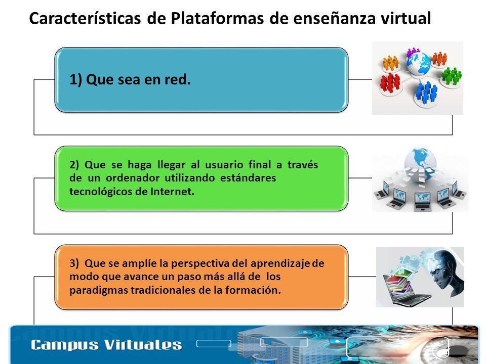Características de Plataformas de enseñanza virtual