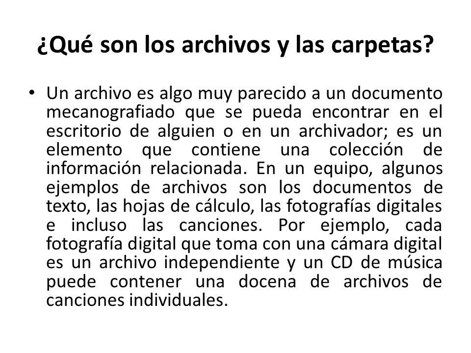 ¿Qué son los archivos y las carpetas