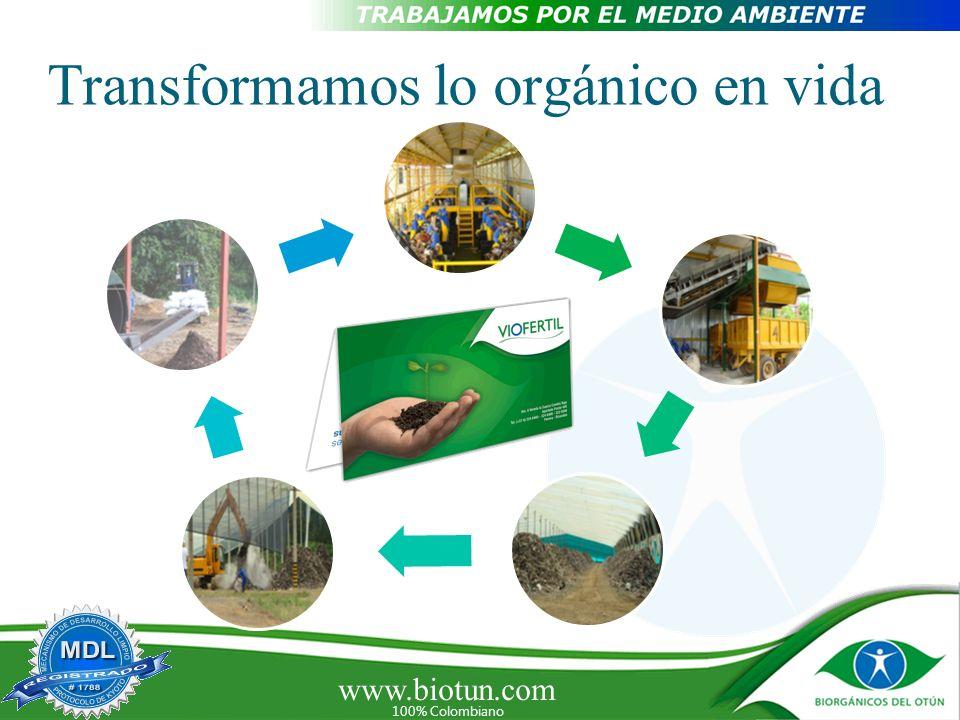 Transformamos lo orgánico en vida