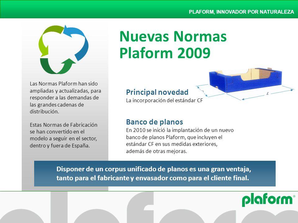 Nuevas Normas Plaform 2009 Principal novedad Banco de planos