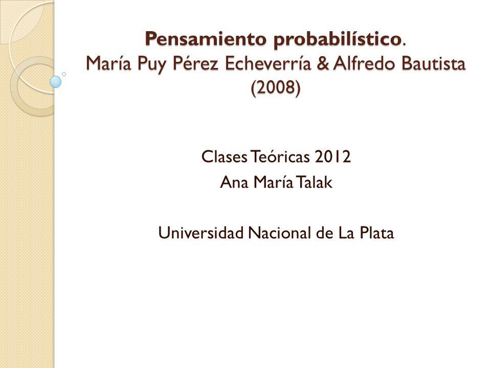 Clases Teóricas 2012 Ana María Talak Universidad Nacional de La Plata