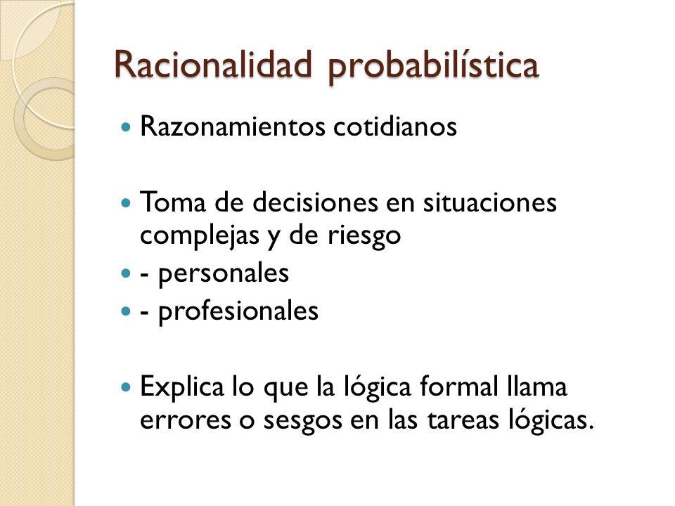 Racionalidad probabilística
