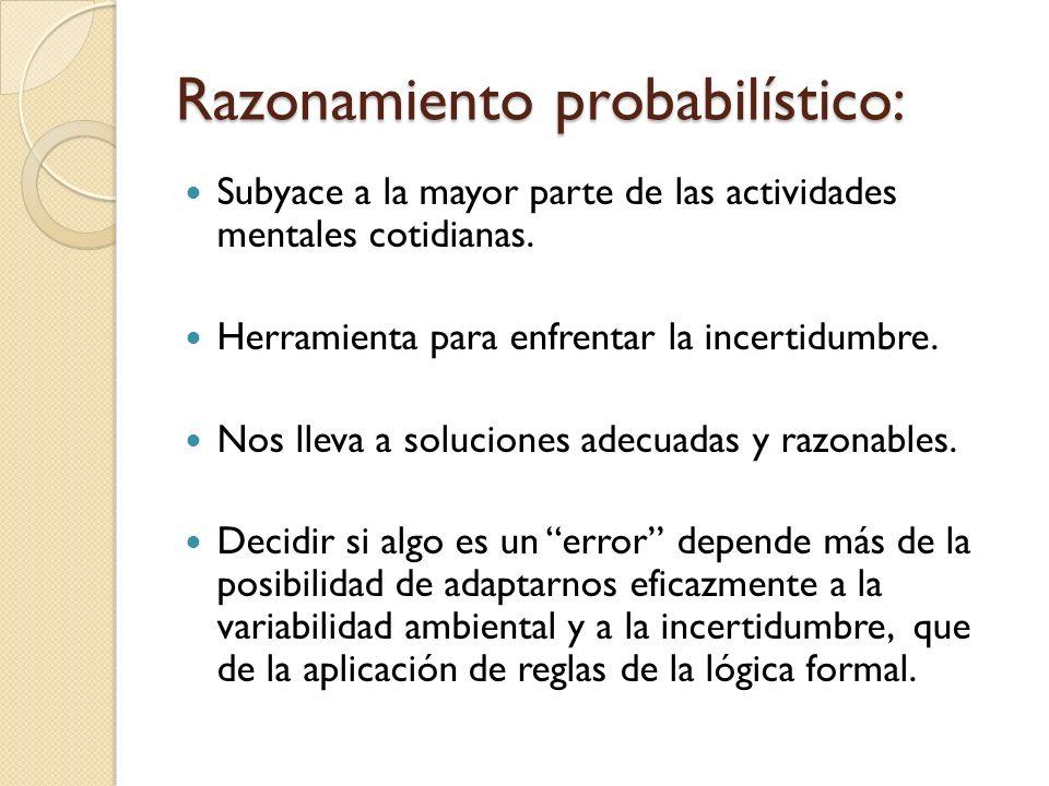 Razonamiento probabilístico: