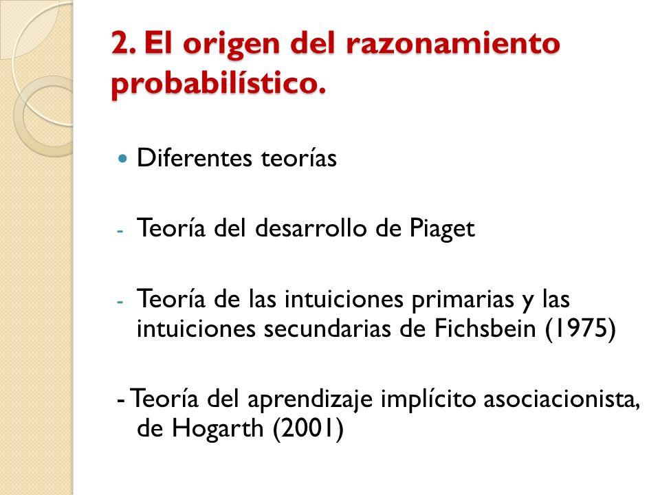 2. El origen del razonamiento probabilístico.