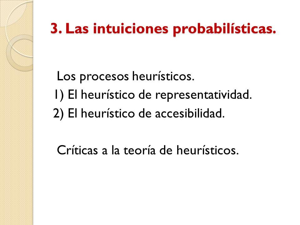 3. Las intuiciones probabilísticas.