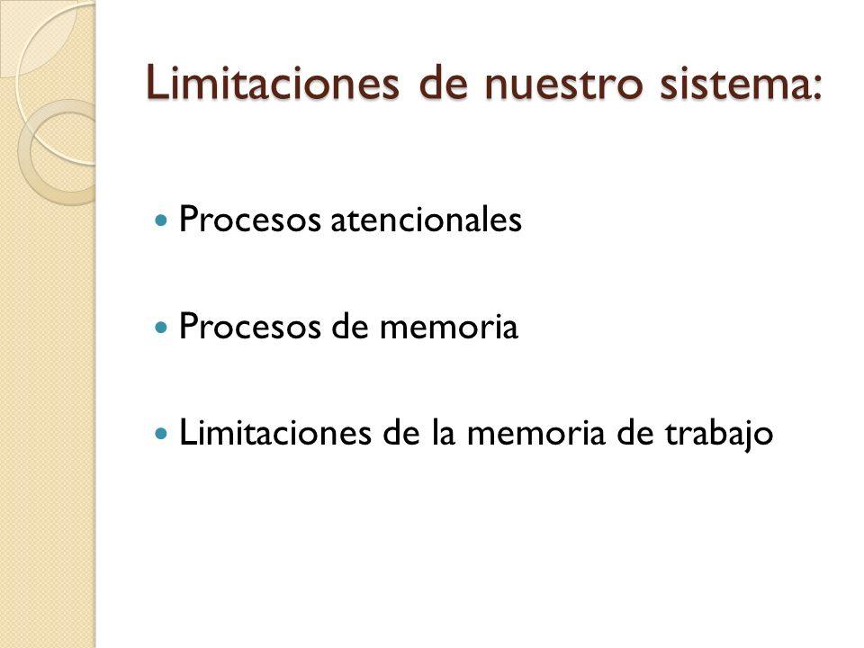 Limitaciones de nuestro sistema: