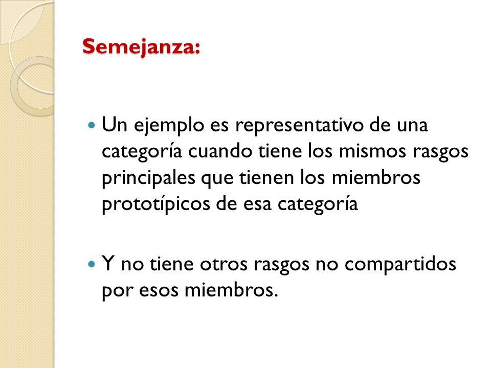 Semejanza: