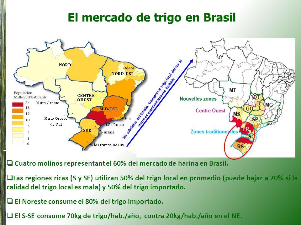 El mercado de trigo en Brasil