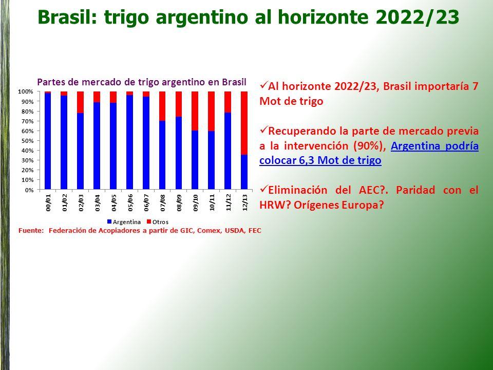 Brasil: trigo argentino al horizonte 2022/23