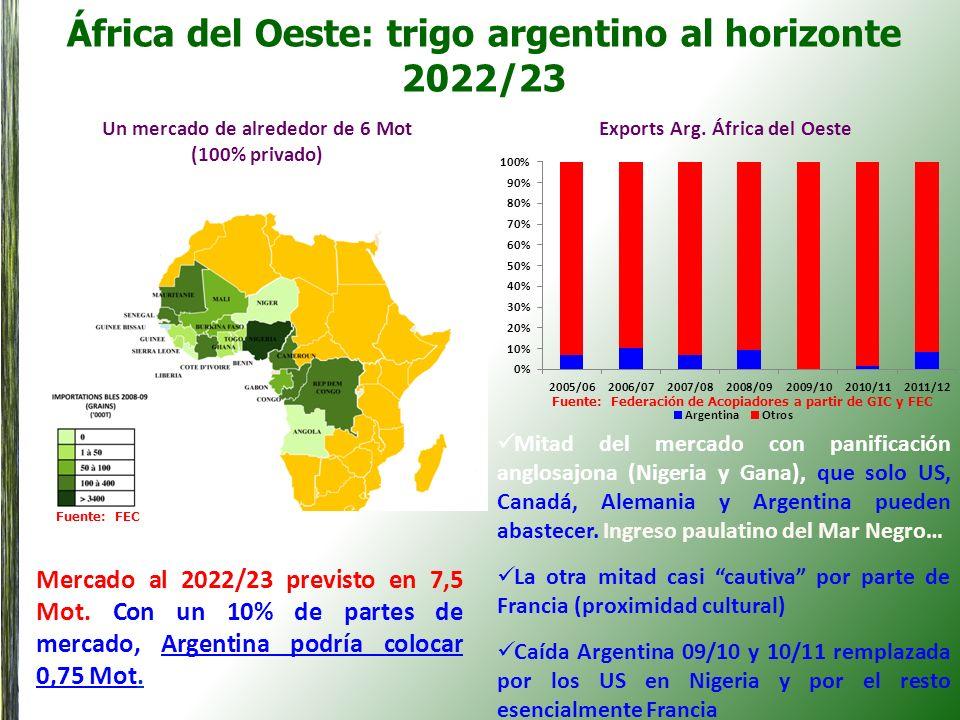 África del Oeste: trigo argentino al horizonte 2022/23