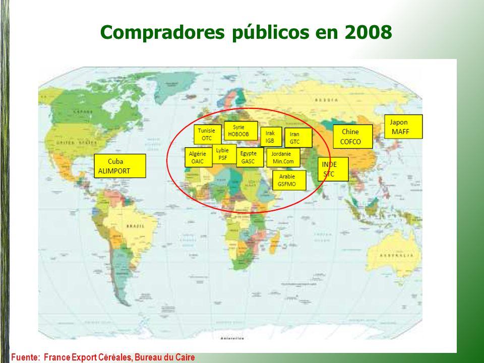 Compradores públicos en 2008