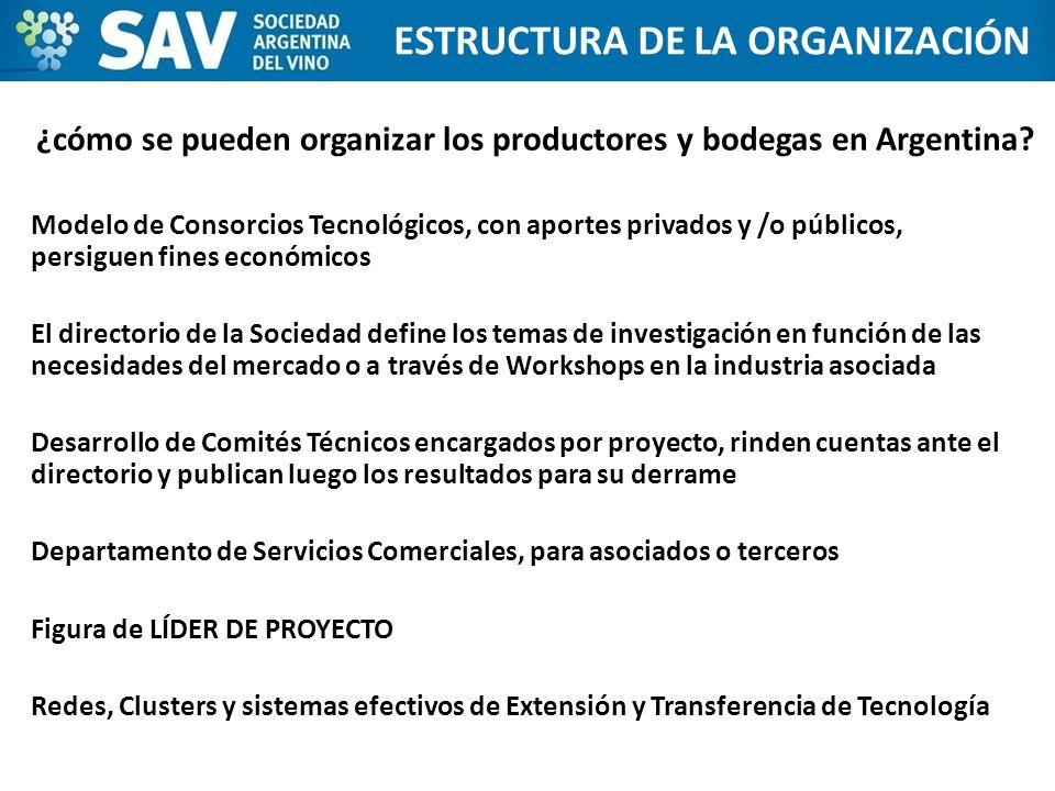 ¿cómo se pueden organizar los productores y bodegas en Argentina