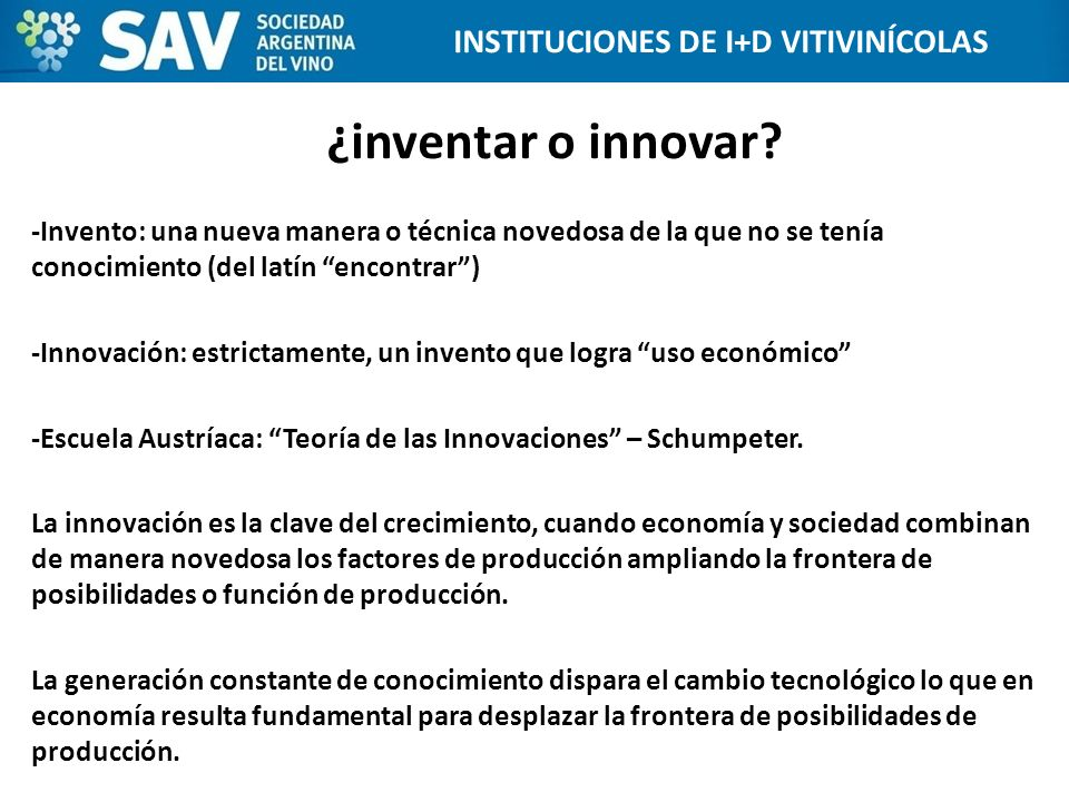 INSTITUCIONES DE I+D VITIVINÍCOLAS