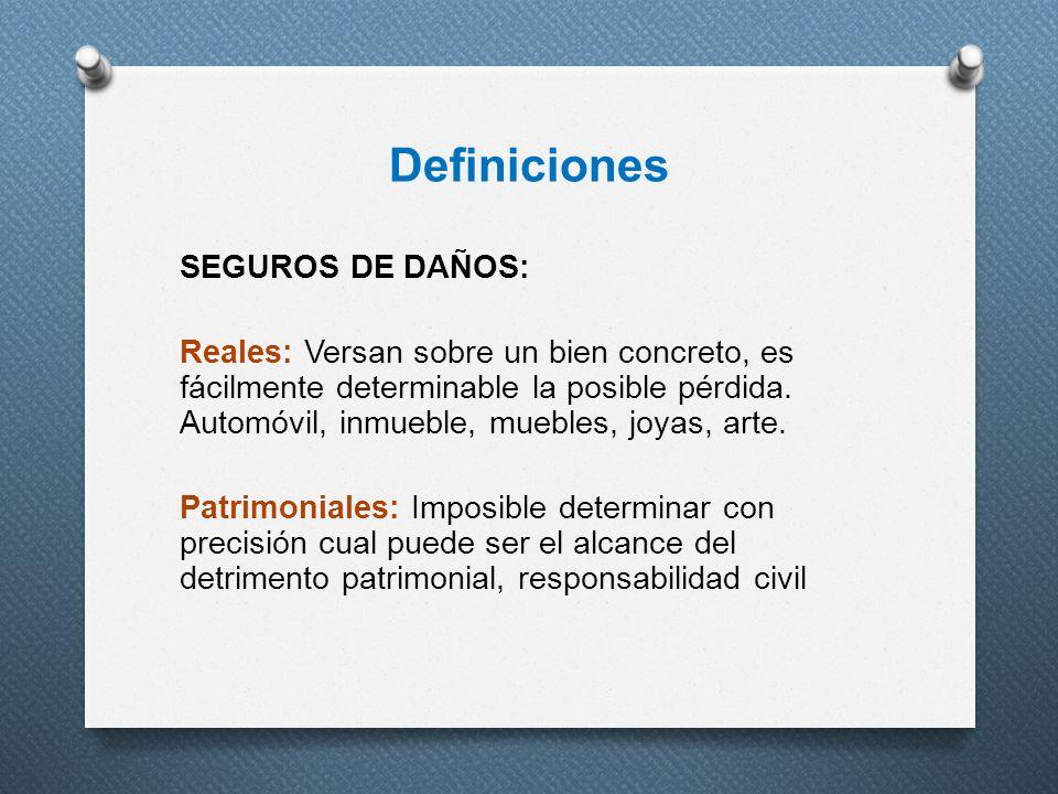 Definiciones SEGUROS DE DAÑOS: