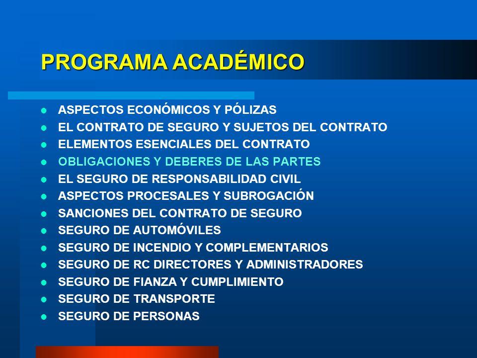 PROGRAMA ACADÉMICO ASPECTOS ECONÓMICOS Y PÓLIZAS