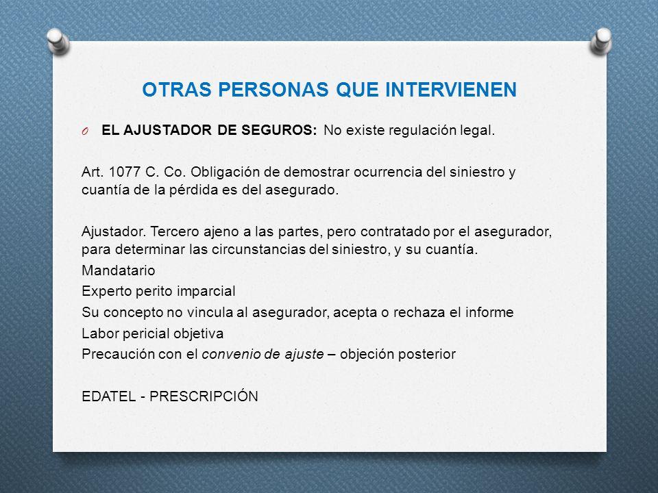 OTRAS PERSONAS QUE INTERVIENEN