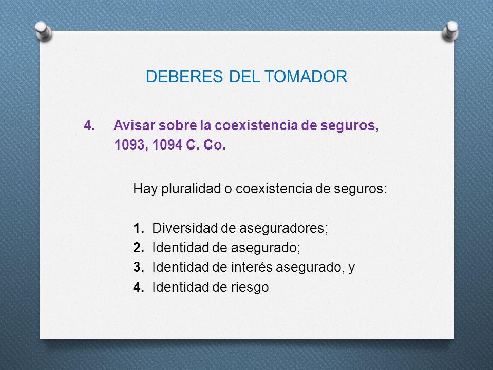 DEBERES DEL TOMADOR
