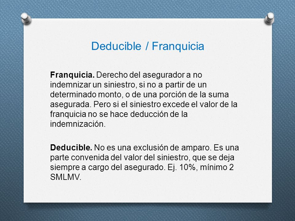 Deducible / Franquicia