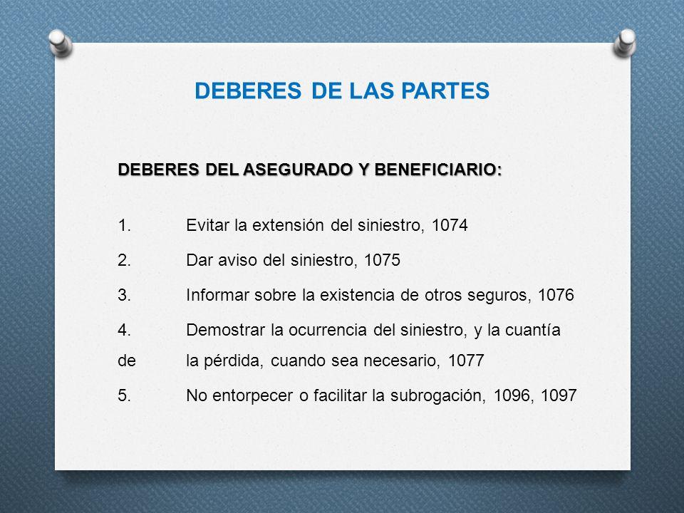 DEBERES DE LAS PARTES