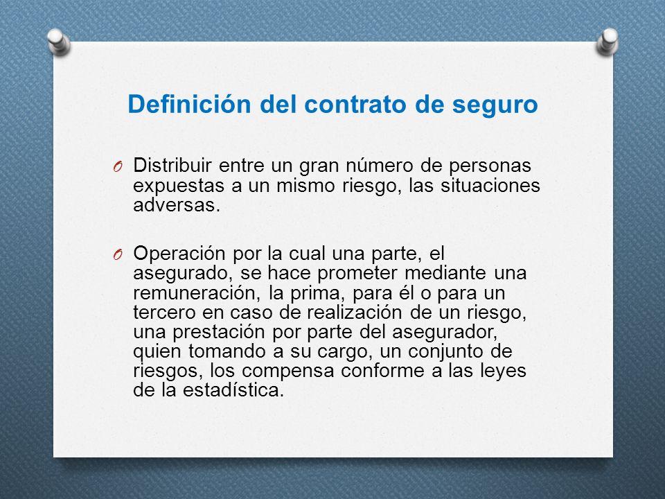 Definición del contrato de seguro
