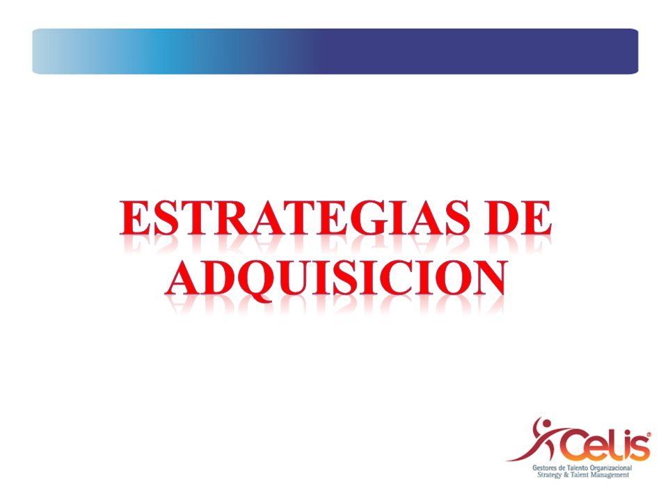 ESTRATEGIAS DE ADQUISICION