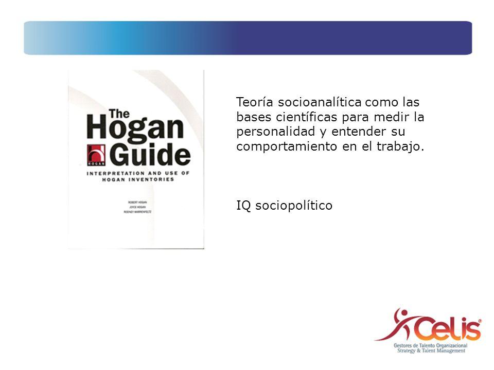 Teoría socioanalítica como las bases científicas para medir la personalidad y entender su comportamiento en el trabajo.