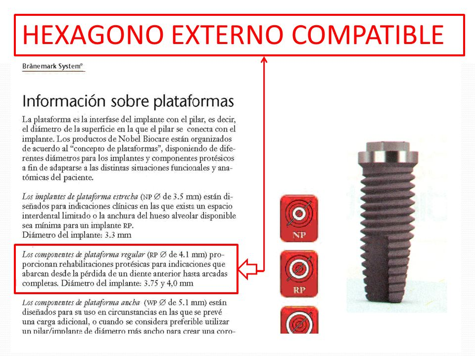 HEXAGONO EXTERNO COMPATIBLE