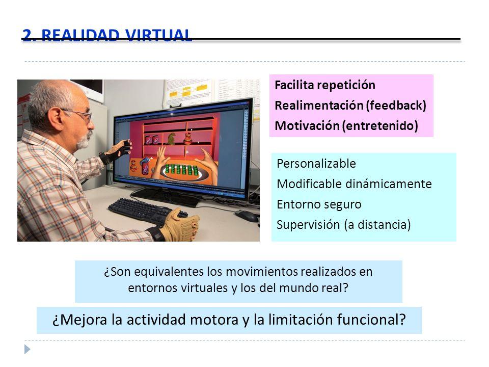 ¿Mejora la actividad motora y la limitación funcional