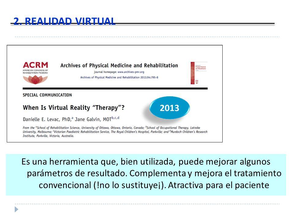 2. REALIDAD VIRTUAL 2013.
