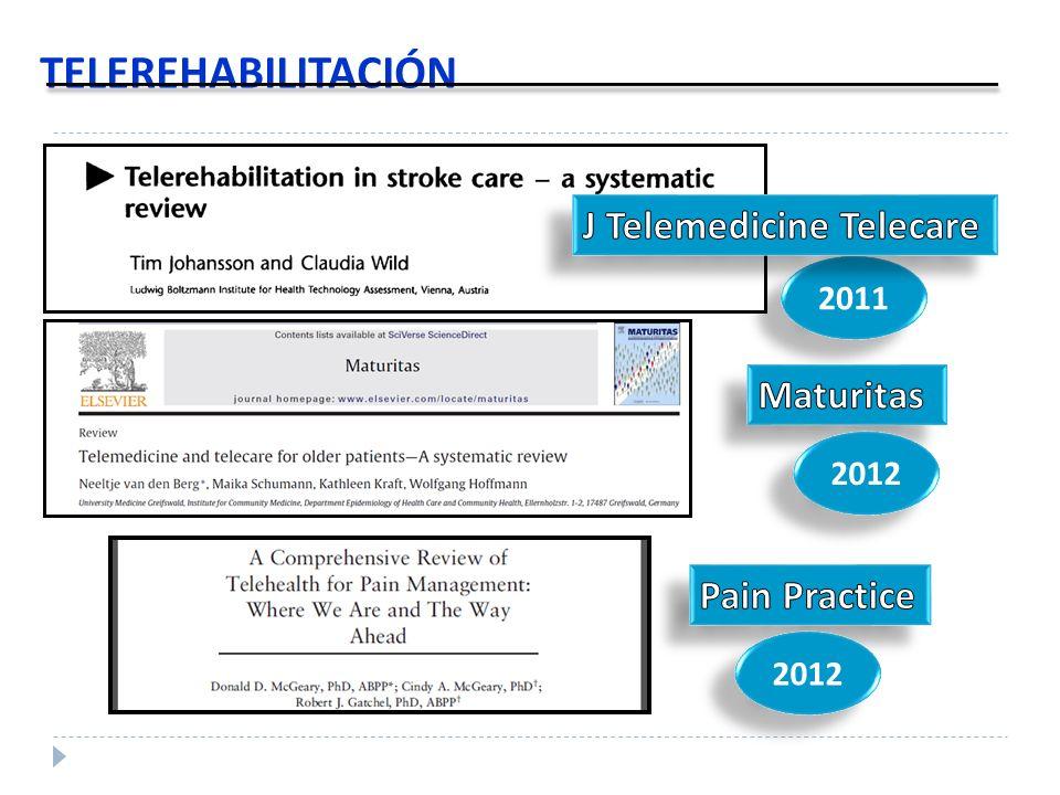 TELEREHABILITACIÓN J Telemedicine Telecare Maturitas Pain Practice