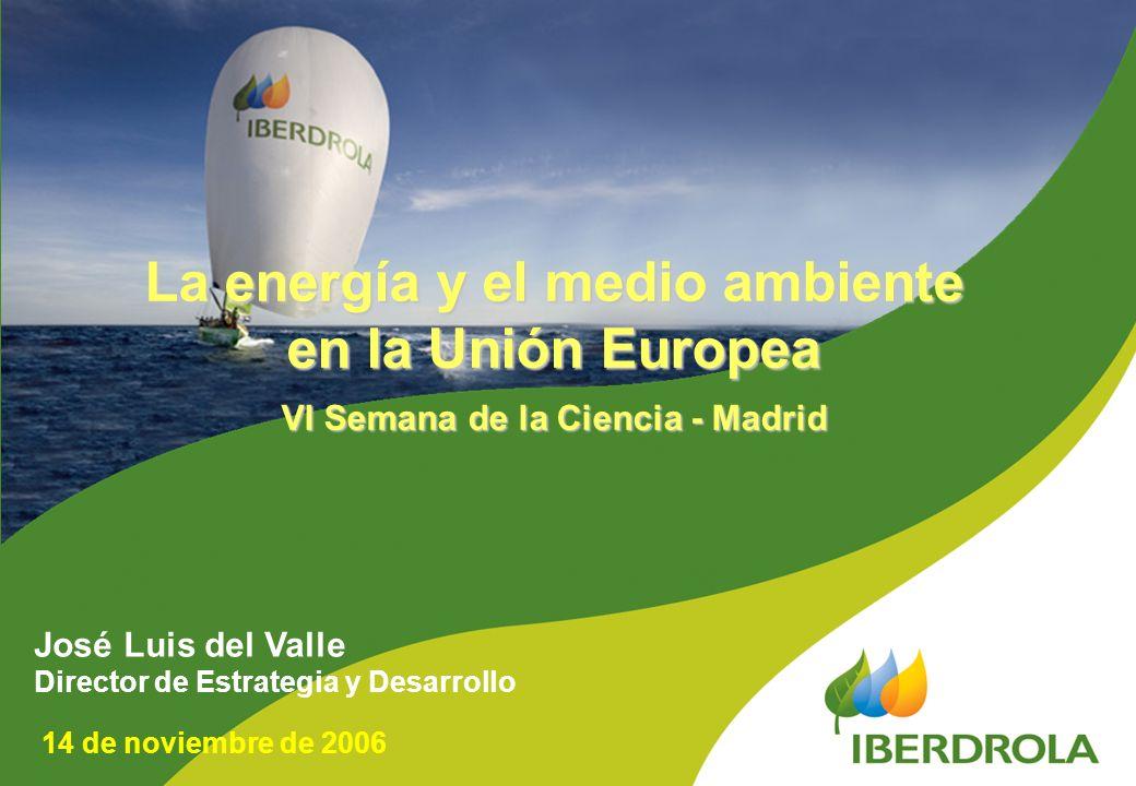 La energía y el medio ambiente VI Semana de la Ciencia - Madrid