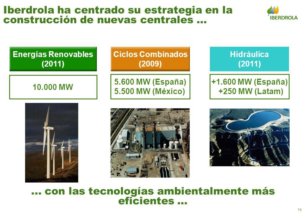 ... con las tecnologías ambientalmente más eficientes …